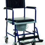 Toaletní kolečková židle 139E - kód ZP: 0093501 Odnímatelné ruční a nožní opěrky